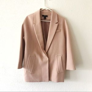 Dusty rose pink boxy blazer